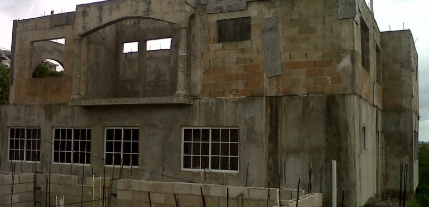 Unfinished 3 storey house in foreclosure for sale in Manchester